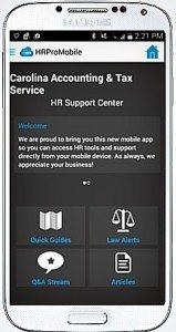 HR OnLine Mobile App Image