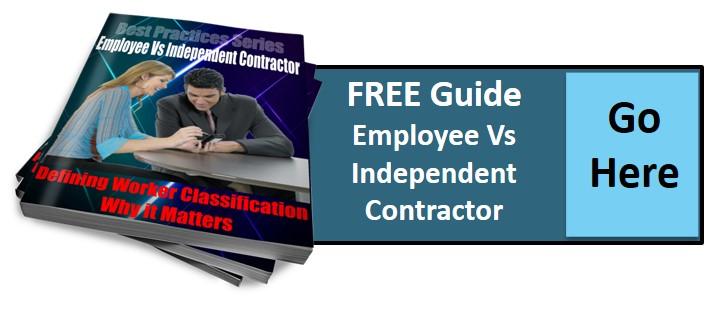 Employee verses Independent Contractor